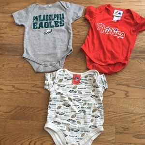 Other - Eagles/Phillies onesies